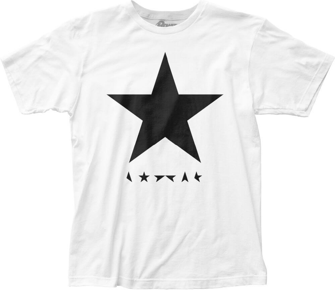 9b8b69638965 David Bowie Blackstar Album Cover Artwork Men's White T-shirt
