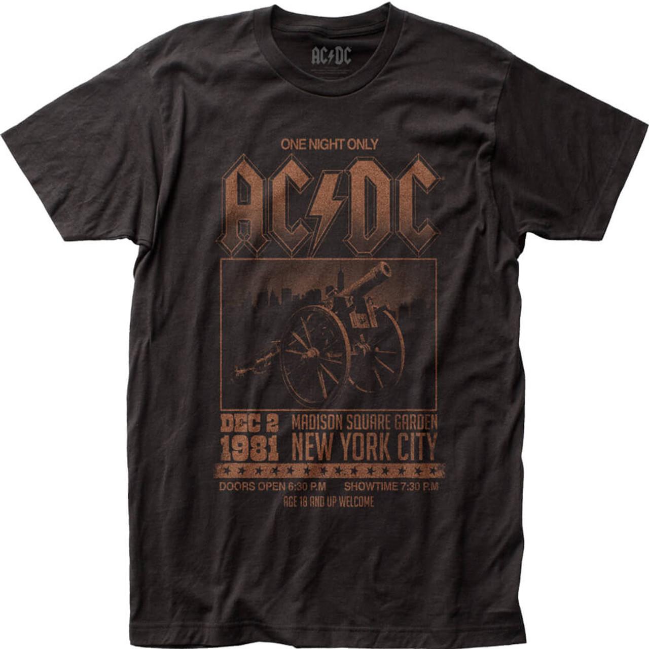 Ac Dc Madison Square Garden December 1981 Concert T Shirt