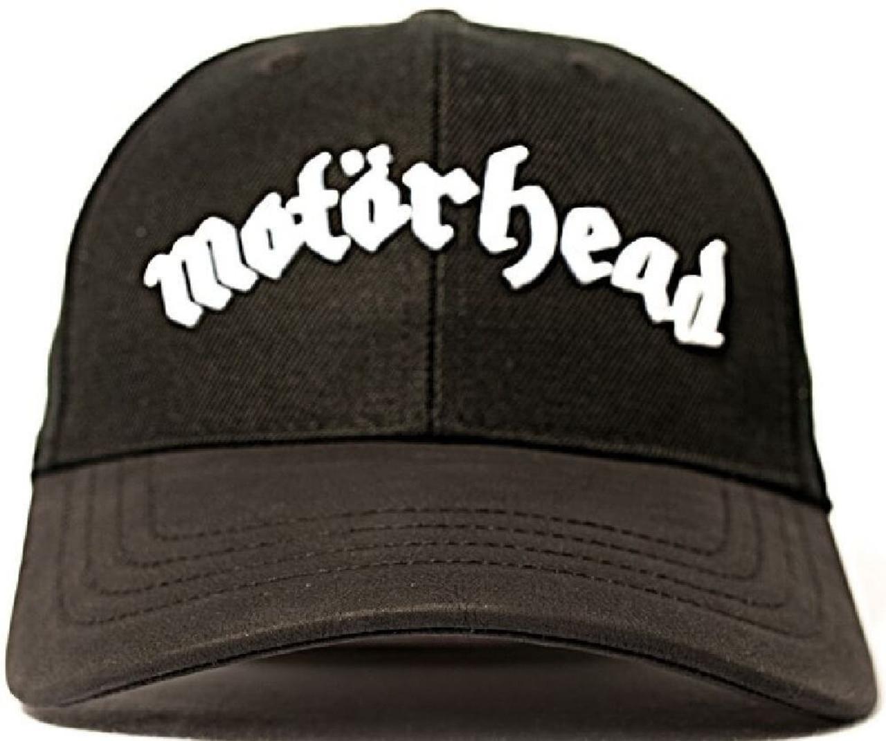 9387c1c85 Motorhead Baseball Hat - Motorhead Logo | Black Wool-Blend and Leather Cap