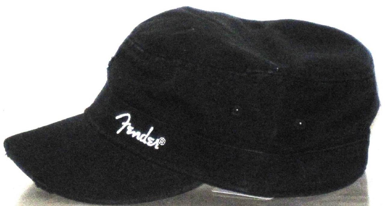 6629cad1ebb Fender Guitar Hat - Logo Military Cap. Black