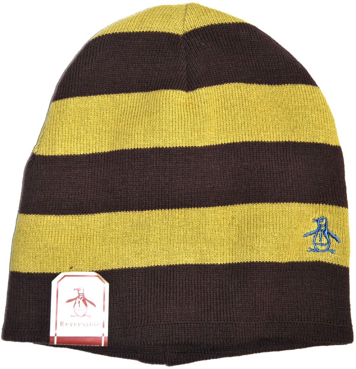 Original Penguin by Munsingwear Hat - Mr. Flip Reversible Ski Cap ... 67c37c78b95