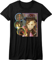 Culture Club Colour by Numbers Album Cover Artwork Women's Black T-shirt