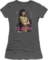 Pretty in Pink Movie Duckie Character Women's Gray Vintage T-shirt