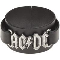 AC/DC ACDC Logo Leather Wrisstrap Bracelet Cuff by Alchemy of England - front