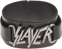 Slayer Logo Leather Wriststrap Bracelet Cuff