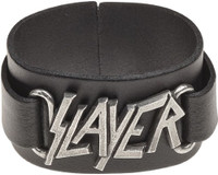 Slayer Logo Leather Wriststrap Bracelet Cuff