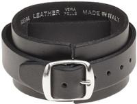 Slayer Logo Leather Wriststrap Bracelet Cuff - buckle