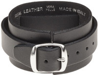 Slayer Logo Leather Wriststrap Bracelet Cuff - buckle