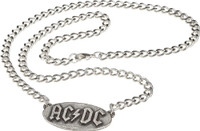 AC/DC Logo Pewter Chain Necklace