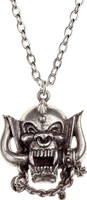 Motorhead Snaggletooth War Pig Logo Pewter Necklace by Alchemy of England - Pendant Close Up