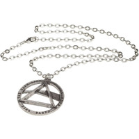 Pink Floyd The Dark Side of the Moon Album Cover Artwork Pewter Necklace and Chain by Alchemy of England