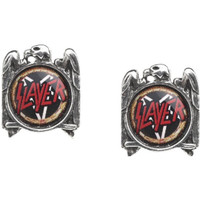 Slayer Eagle and Pentagram Logo Earrings by Alchemy of England - front