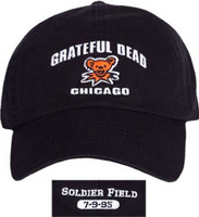Grateful Dead Soldier Field Chicago, Illinois July 9, 1995 Concert Baseball Cap Hat