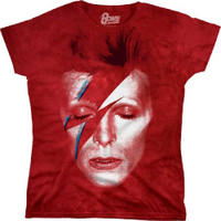 David Bowie Aladdin Sane Album Cover Artwork Women's T-shirt