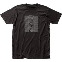 Joy Division Unknown Pleasures Album Cover Artwork Men's Unisex Black Fashion T-shirt - front