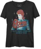 David Bowie 1973 Ziggy Stardust World Tour  T-shirt