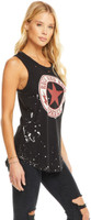 Rock and Roll Forever Women's Black Vintage Sleeveless Muscle Tank Top T-shirt by Chaser - side