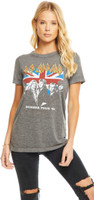 Def Leppard Summer Tour 1983 Women's Gray Vintage Fashion Concert T-shirt by Chaser - front