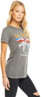 Def Leppard Summer Tour 1983 Women's Gray Vintage Fashion Concert T-shirt by Chaser - side