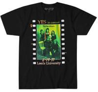 Yes In Concert Leeds University February 19, 1971 The Yes Album Cover Artwork Men's Black T-shirt