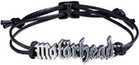 Motorhead Logo Waxed Cord and Pewter Bracelet by Alchemy of England
