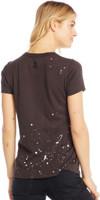 Jimi Hendrix Women's Black Vintage Distressed Fashion T-shirt by Chaser - back