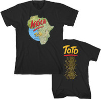 Toto Africa World Tour Men's Black Vintage Concert T-shirt