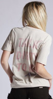 Poison Talk Dirty to Me Song Single Album Cover Artwork Women's Beige Vintage Fashion T-shirt by Recycled Karma - back