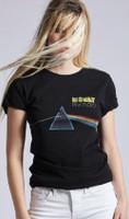 Pink Floyd Money Song Single Album Cover Artwork Women's Black Vintage Fashion T-shirt by Recycled Karma