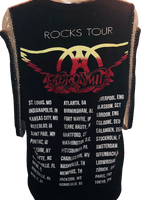 Aerosmith Rocks Tour Women's Vintage Black Sleeveless Metal Chain Tank Top Fashion Concert T-shirt by Trendy and Tipsy - back