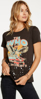 The  Who Live in Concert '82 Women's Vintage Black Distressed Concert Fashion T-shirt by Chaser - side