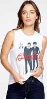 Blondie Band Photograph Women's White Sleeveless Muscle Tank Top T-shirt - right