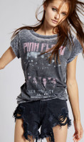 Pink Floyd Wooster Hall July 4, New York City Women's Black Vintage Fashion Concert T-shirt by Recycled Karma - front