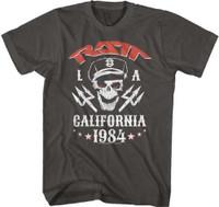 Ratt Capped Skull LA Los Angeles California 1984 Men's Unisex Gray T-shirt