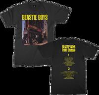 Beastie Boys Paul's Boutique Album Cover Artwork with Song List Men's Unisex Black T-shirt