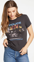 The Police Ghost in the Machine Women's Black Vintage Fashion Concert T-shirt by Chaser - front