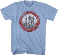 Bad Company 1977 Tour Burnin' Through America Men's Unisex Blue Vintage Concert Fashion Band T-shirt