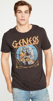 Genesis Bird Logo Men's Black Vintage Fashion T-shirt by Chaser - front