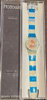 Swatch Watch GZ161 Centre Georges Pompidou La Sirene et Le Marin by Pierre et Gilles Vintage Unisex Fashion Watch - open case