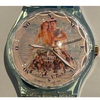 Swatch Watch GZ-161 Centre Georges Pompidou La Sirene et Le Marin by Pierre et Gilles Vintage Unisex Fashion Watch - face