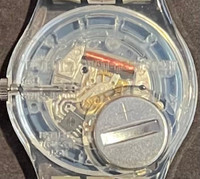 Swatch GK171 Vintage Unisex Fashion Watch - back