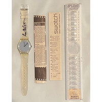 Swatch GZ143 Robert Altman Time to Reflect 100 Years of Cinema 1995 Vintage Unisex Fashion Watch - instruction manual and Robert Altman pamphlet