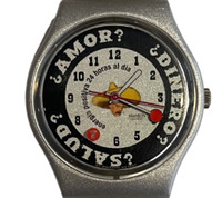 Swatch GM143 Sombrero 1998 Vintage Unisex Fashion Watch - face close up