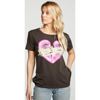 Heartbreaker Women's Vintage Black Fashion T-shirt by Chaser -  side