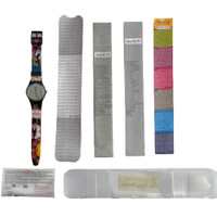 Swatch GF900C Campfire Las Vegas Edition Unisex Vintage Watch - instruction manual, certificates of authenticity and guarantee, Swatch Club invitation
