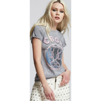 CBGB & OMFUG Home of Underground Rock Logo Live at CBGB NYC Women's Vintage Distressed Fashion T-shirt by Recycled Karma - side 2