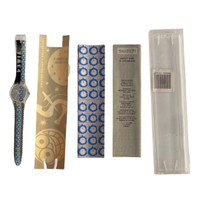 Swatch GK271 Time 4 by Laura Grisi Vintage Unisex Fashion Watch - instruction manual and Laura Grisi information pamphlet
