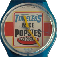 Swatch GN156 Good Morning Vintage Unisex Fashion Watch - face