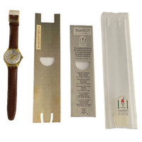 Swatch SAJ100 Missing Vintage Automatic Movement Unisex Fashion Watch - Swatch insert and instruction manual