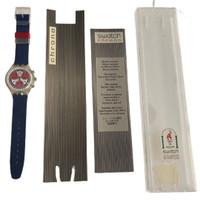Swatch SCK402 Sea Port Chorno Vintage Unisex Fashion Watch - insert & instruction manual